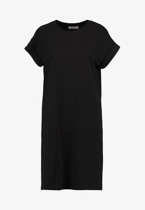 ALVIDERA ADDI PLAIN DRESS - Žerzejové šaty - black