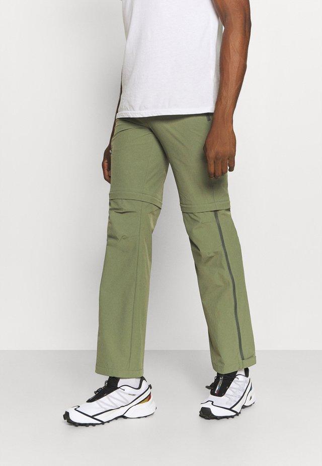 FARLEY T ZIP PANTS - Pantalones montañeros largos - cedar wood