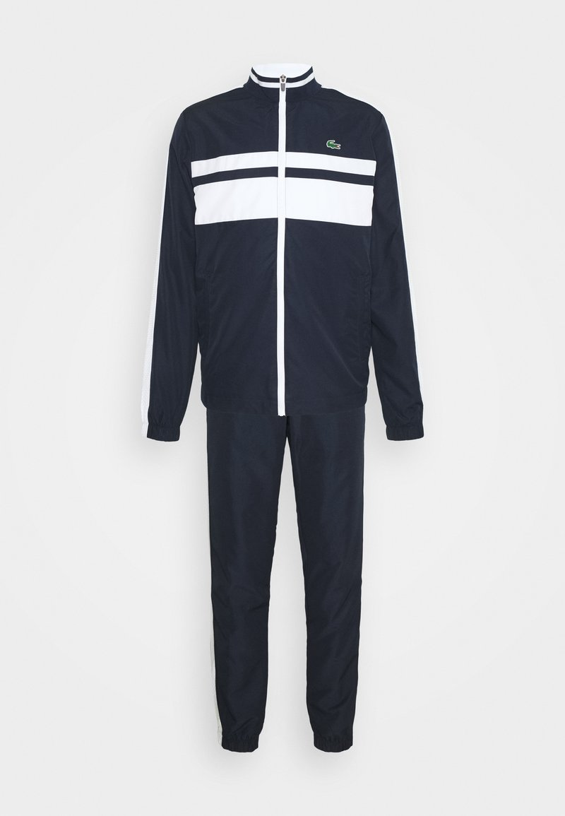 Lacoste Sport - TRACK SUIT - Tracksuit - navy blue/white