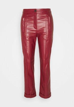 Kalhoty - burgundy
