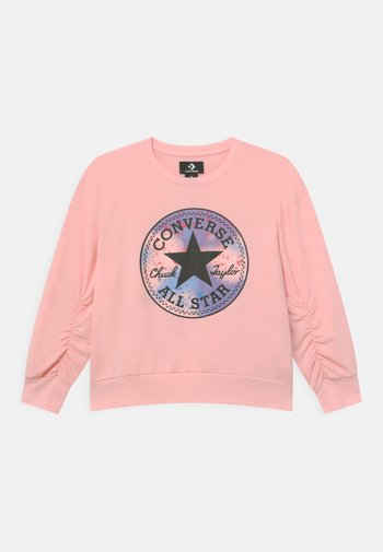 RUCHED CHUCK PATCH CREW NECK - Felpa - storm pink