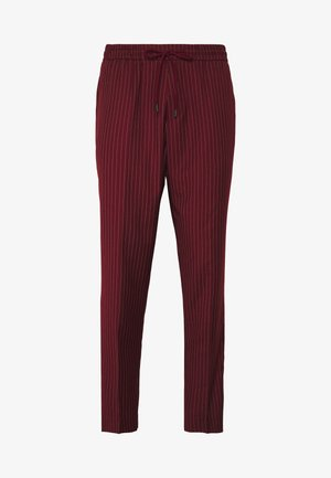 PIN STRIPE PULL ON - Broek - dark burgundy