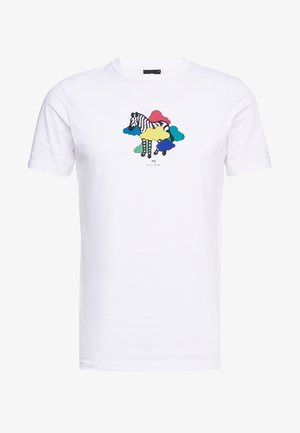 MENS SLIM FIT TSHIRT CLOUD ZEBRA - T-shirt print - white