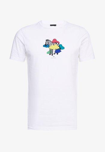 MENS SLIM FIT TSHIRT CLOUD ZEBRA - Print T-shirt - white