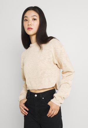 HIGH LOW HEM TEXTURED JUMPER - Sweter - beige