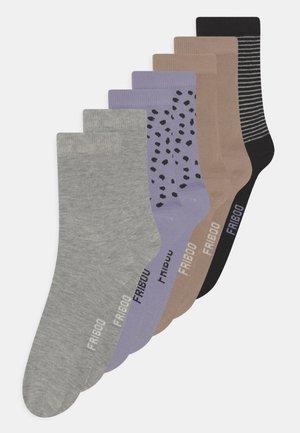 7 PACK - Sokken - purple/tan/grey