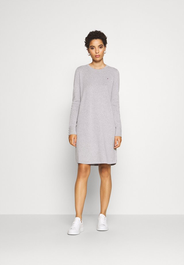SOFT DRESS - Jumper dress - light grey heather