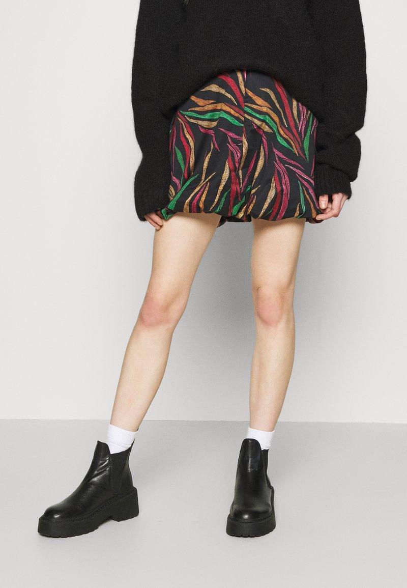 Farm Rio - SHINNY ZEBR BALLOON SKIRT - Mini skirt - multi