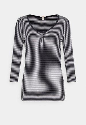 CORE STRIPE - Maglietta a manica lunga - navy