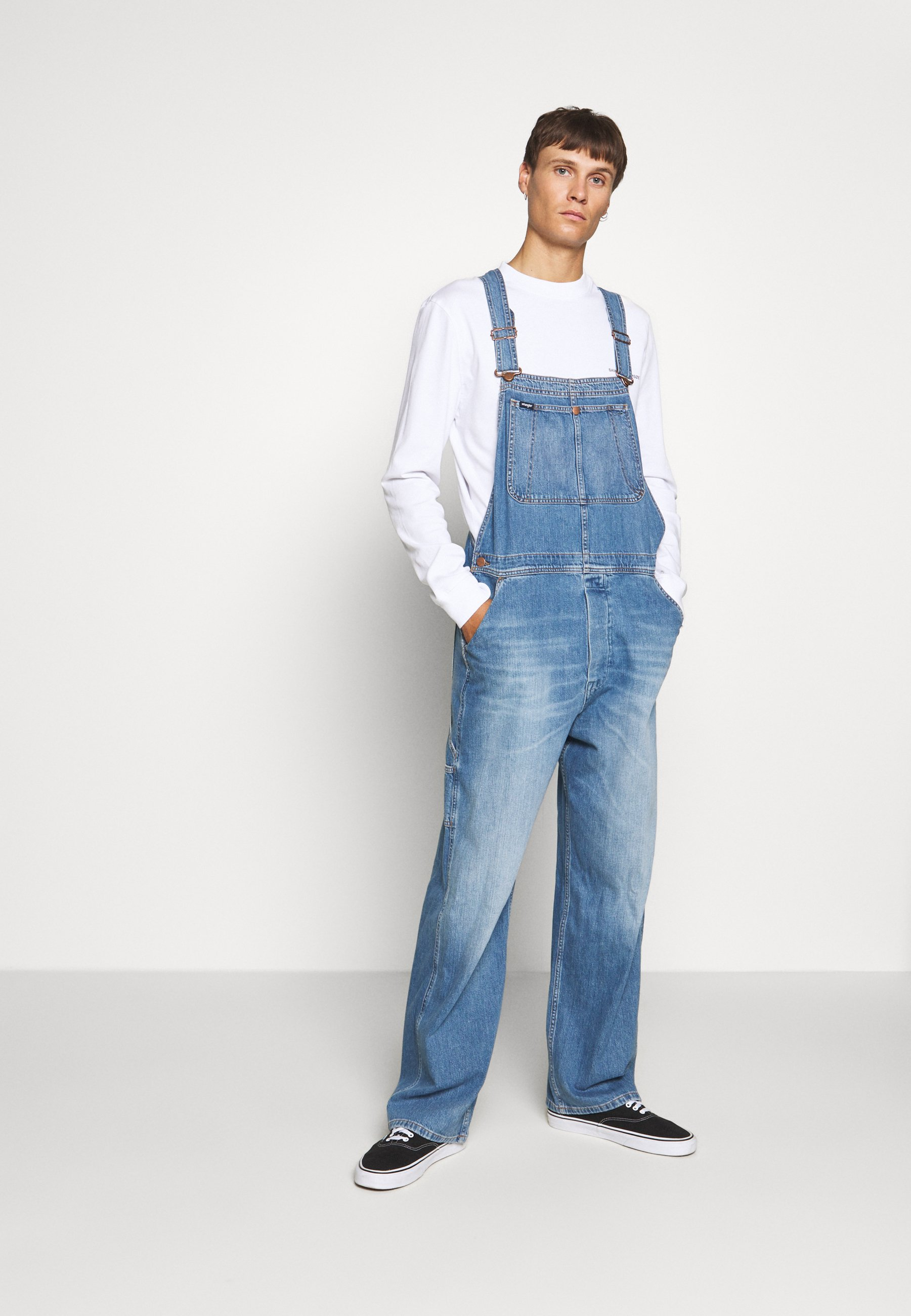 Cheapest Men's Clothing Wrangler AUTHENTIC BIB Dungarees blue denim EjMS2SUXJ