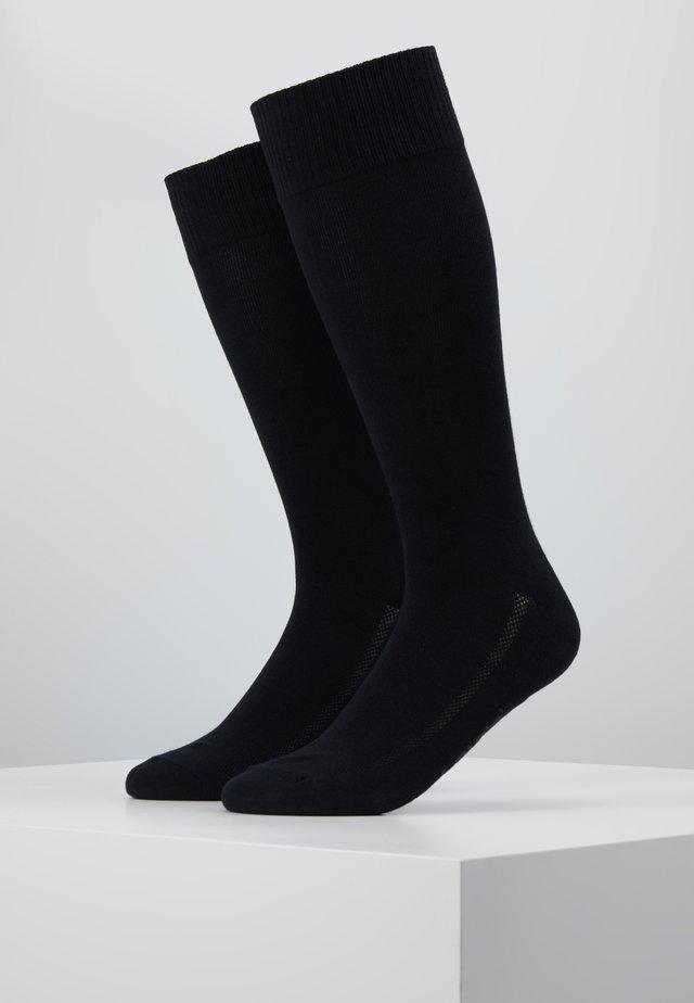 VINTAGE CUT 2PACK - Ponožky - jet black