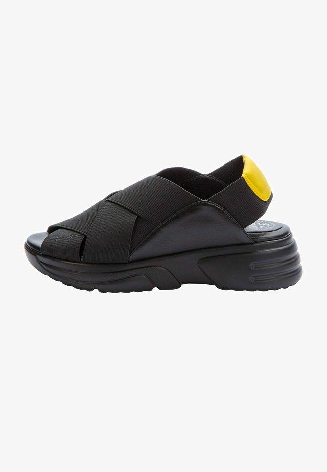 Sandals - black  yellow