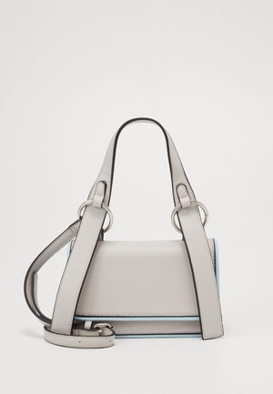 PCMACY MINI CROSS BODY - Across body bag - ecru/silver