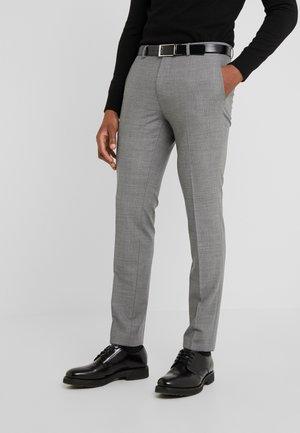 HESTEN - Oblekové kalhoty - open grey