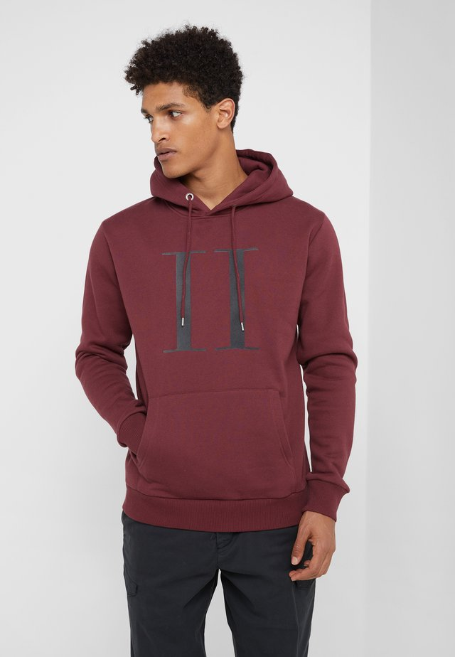 ENCORE HOODIE - Sweat à capuche - burgundy/charcoal