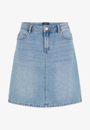 JEANSROCK HIGH WAIST - Gonna di jeans - light blue denim