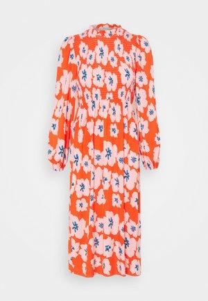 SWEDISH FLOWER MIDAXI DRESS - Day dress - orange