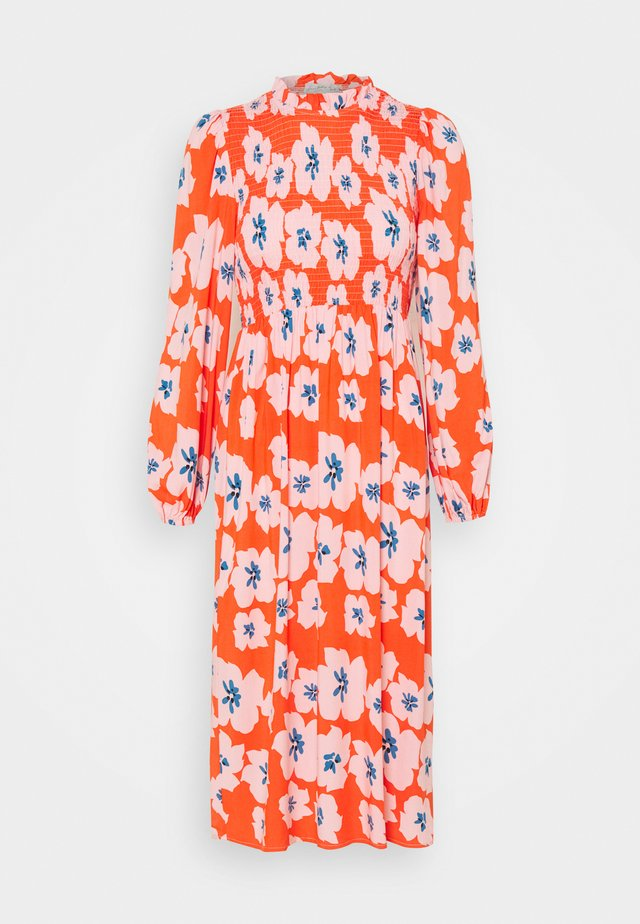 SWEDISH FLOWER MIDAXI DRESS - Day dress - orange
