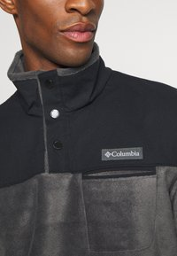 Columbia - COTTONWOOD PARKHALF SNAP - Felpa in pile - shark/black - 5