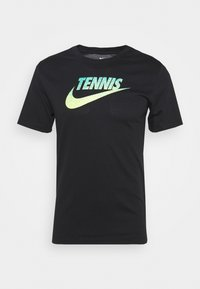 Nike Performance - GRAPHIC - Print T-shirt - black/volt/neo turq - 4