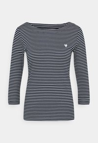 TOM TAILOR - STRIPE BOAT NECK - Long sleeved top - navy/white - 0