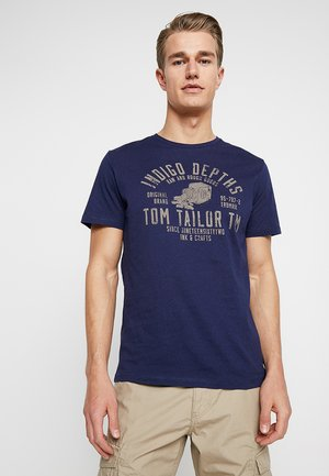 Print T-shirt - true dark blue