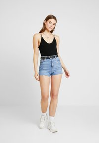 BDG Urban Outfitters - THONG STRAPPY BACK BODYSUIT - Top - black - 1
