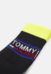 Tommy Jeans - SOCK 2 PACK UNISEX  - Socks - black/yellow - 1