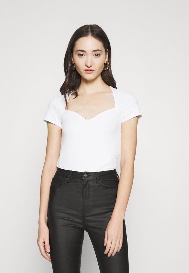 HEARTSHAPE - Camiseta estampada - off-white