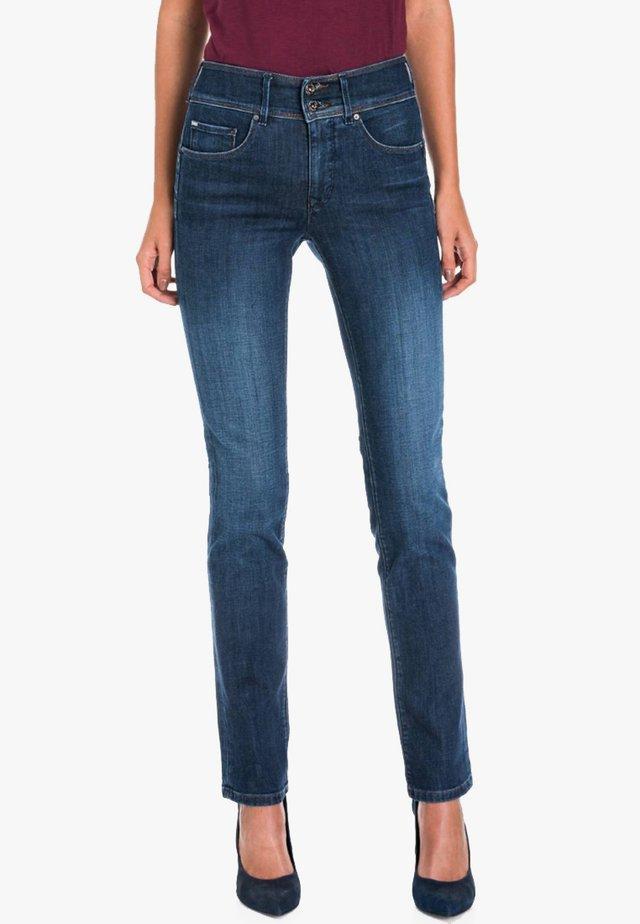 PUSH UP - Straight leg jeans - dark-blue denim
