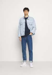 Selected Homme - SLHRELAXCOLMAN O NECK TEE - Basic T-shirt - navy blazer - 1