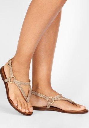 T-bar sandals - visone vsn