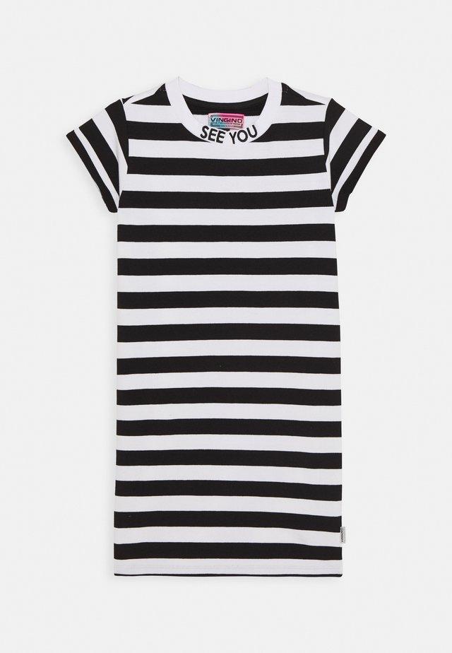 POLLY - Žerzejové šaty - deep black