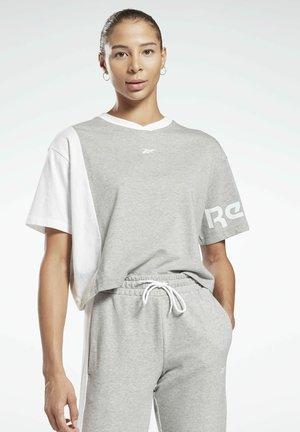 LINEAR LOGO T-SHIRT - Print T-shirt - grey