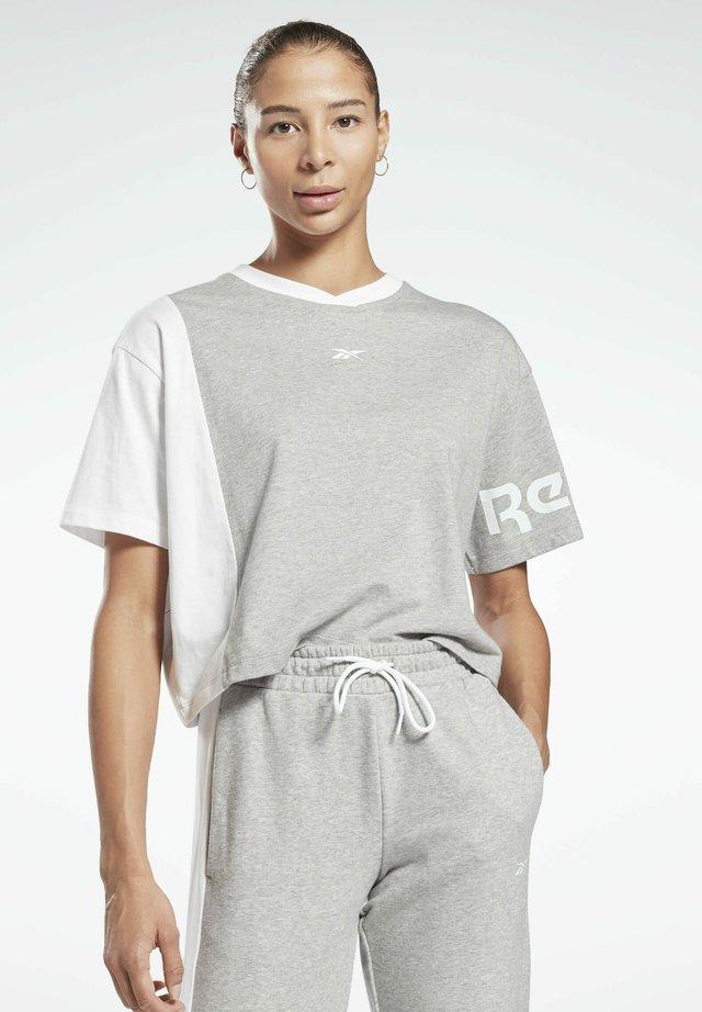 LINEAR LOGO T-SHIRT - T-shirt con stampa - grey