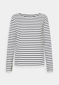 Petit Bateau - MARINIERE - Camiseta de manga larga - marshmallow/smoking - 0