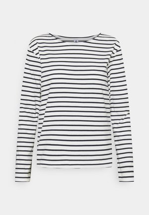 MARINIERE - Long sleeved top - marshmallow/smoking
