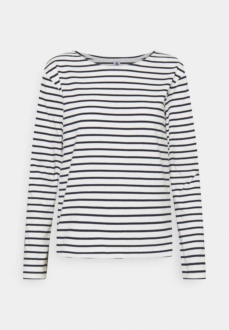 Petit Bateau - MARINIERE - Camiseta de manga larga - marshmallow/smoking