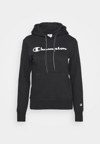 ESSENTIAL HOODED LEGACY - Jersey con capucha - black