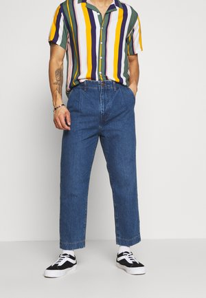 PLEATED  - Relaxed fit jeans - phelps blue