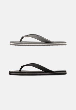 2 PACK - Pool shoes - black/grey