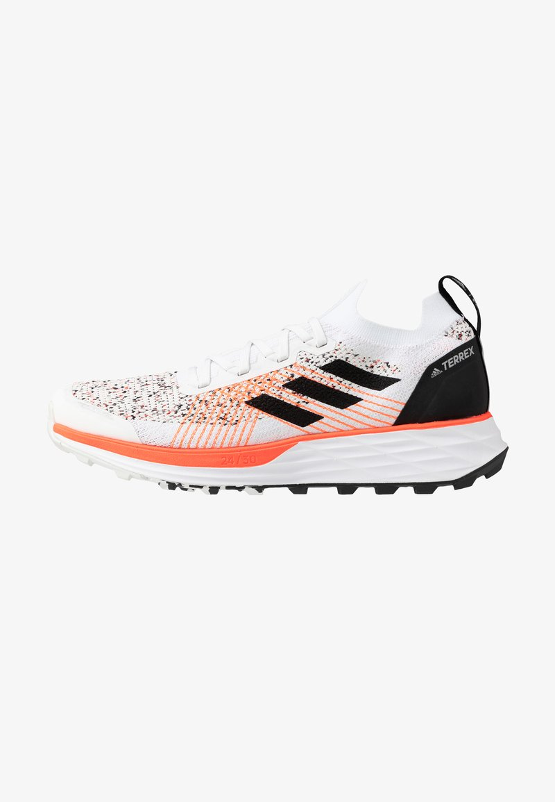 adidas Performance - TERREX TWO PARLEY - Laufschuh Trail - crystal white/core black/solid red