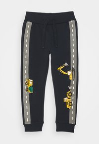 Lindex - MINI TROUSERS VEHICLES - Tracksuit bottoms - dark navy - 0
