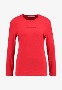 Calvin Klein Jeans - LOGO STRETCH SLIM - Top sdlouhým rukávem - racing red - 3