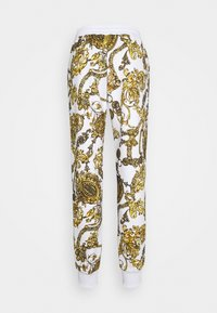 Versace Jeans Couture - PANTS - Tracksuit bottoms - white/gold - 6