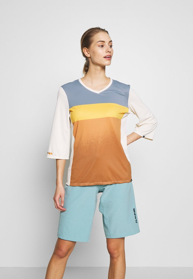 CADENCE  - Long sleeved top - desert blocks