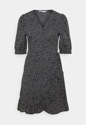 ONLSWEETHEART WRAP FRILL DRESS - Korte jurk - black