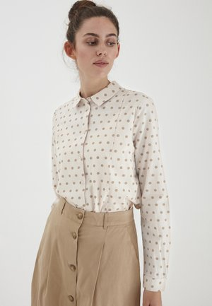 Button-down blouse - tapioca