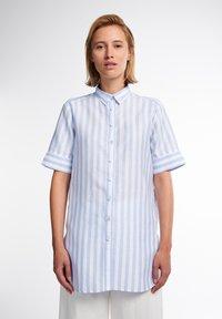 Eterna - Button-down blouse - hellblau weiß - 0