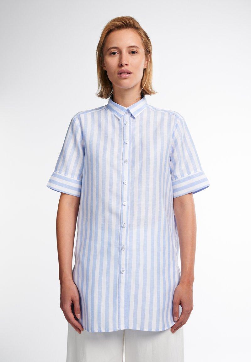 Eterna - Button-down blouse - hellblau weiß